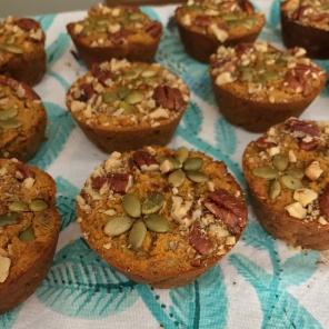 cupcake-sized Pumpkin muffins